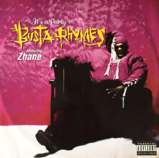 "Busta Rhymes ft Zhane - It's A Party (12"") (VG-/VG)"
